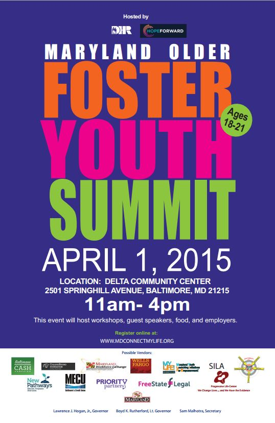 Maryland Older Youth Summit Flyer